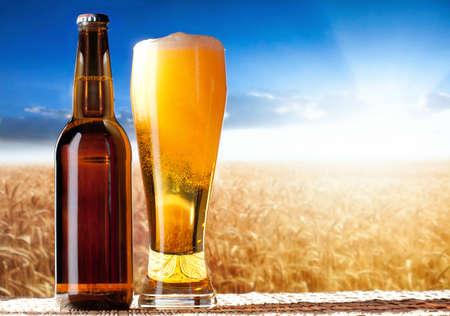 beer in a landscape Standard-Bild