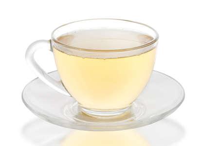Chuck Glass with green tea