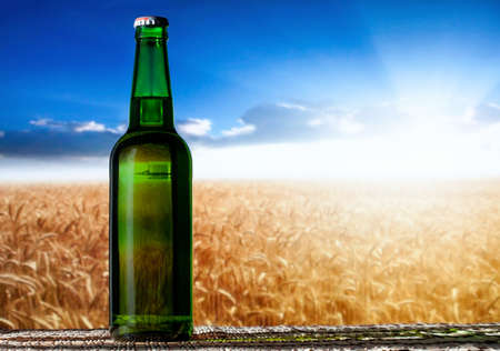beer in a landscape photo