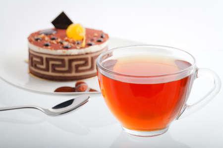 high calorie: cake dessert and tea