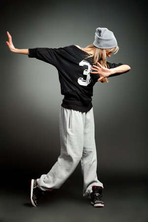 stylish hip hop girl photo