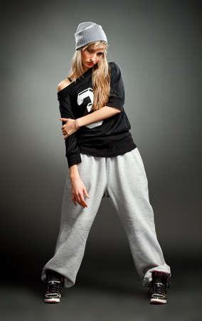 stylish hip hop girl