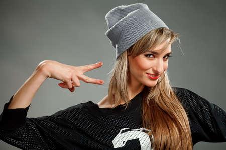 hip hop girl: stylish hip hop girl