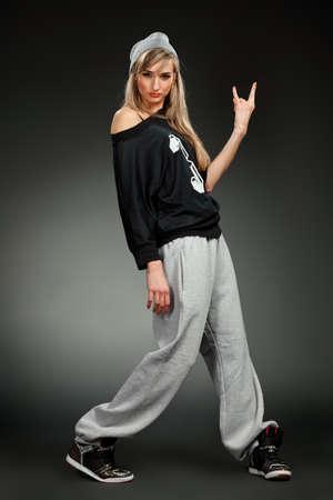 hip hop style: stylish hip hop girl