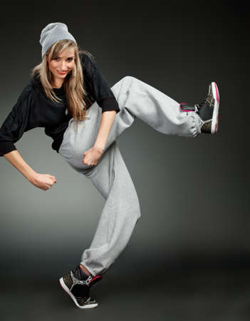 breakdance: stylish hip hop girl