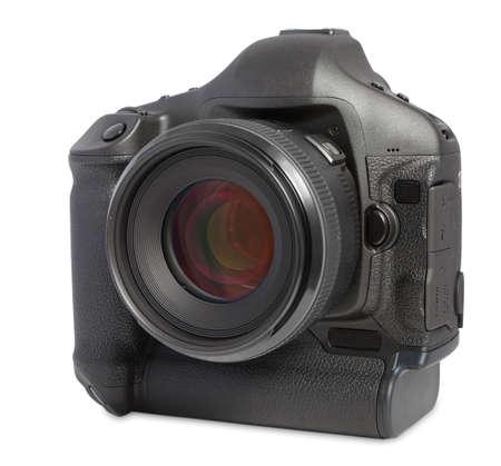 digital camera isolated on white photo