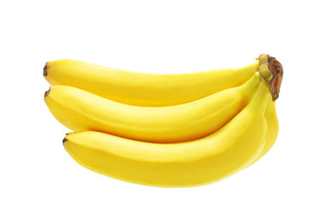 banana skin: Bunch of bananas isolated on white background