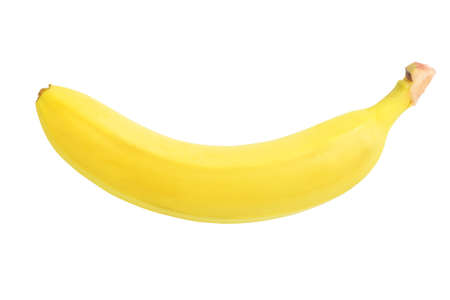 fresh ripe banana isolated on white background
