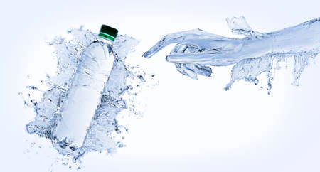 Water hand Standard-Bild