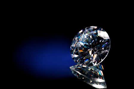 Diamond blue background Standard-Bild