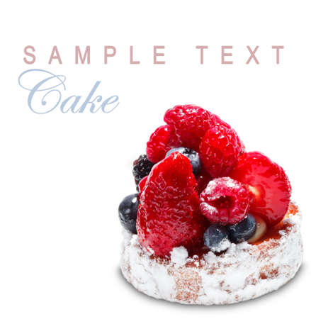 Cake with Berries over white