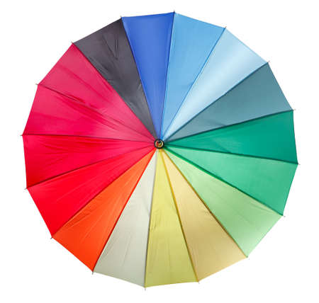 Colourful umbrella isolated on the white background Stock Photo