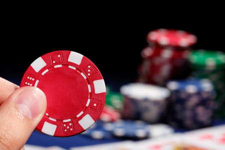 Placing Bet Stock Photo