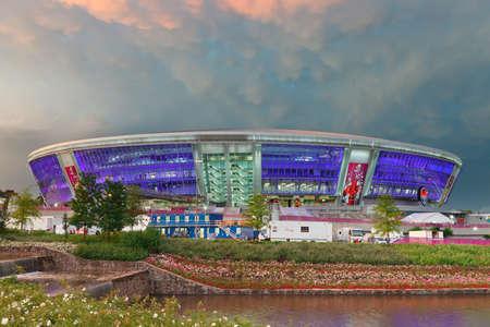delirious: DONBASS-ARENA, DONETSK, UKRAINE - June 15: Donetsks new soccer stadium. European Football Championship, France and Ukraine Donetsk june 15, 2012 in Donetsk, Ukraine. Editorial