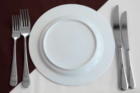 stereotypically: Elegant table setting with fork, knife