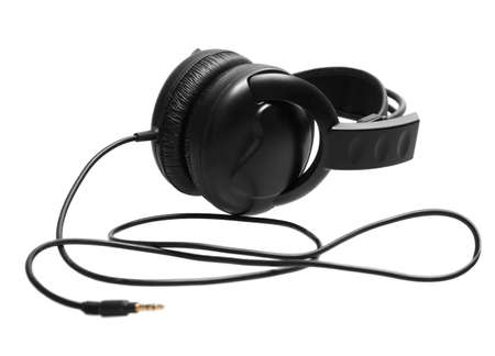 Headphones isolated on a white background Stock Photo