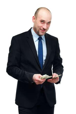 considers: Man considers money
