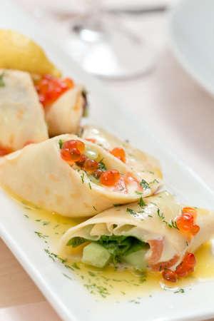 pancakes with caviar Stock Photo - 20243050