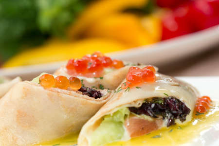 pancakes with caviar Stock Photo - 20243053