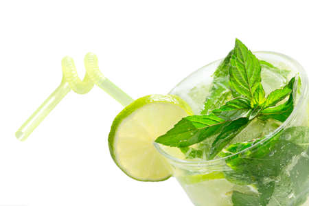Mojito cocktail isolation on a white Stock Photo - 20871532