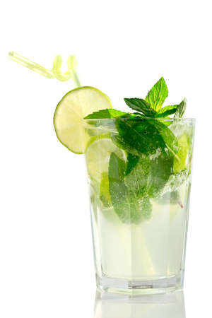 Mojito cocktail isolation on a white Stock Photo - 20871533