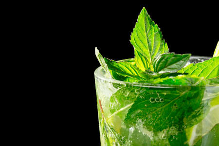 Mojito cocktail on black background Stock Photo - 20871538