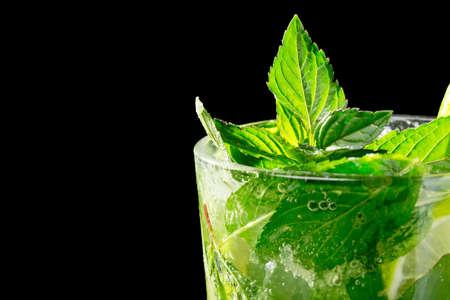 Mojito cocktail on black background Stock Photo - 20871538