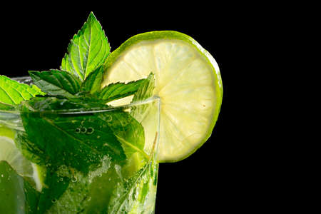 Mojito cocktail on black background Stock Photo - 20871539