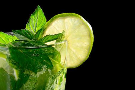 Mojito cocktail on black background Stock Photo - 20871539