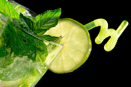 Mojito cocktail on black background Stock Photo - 20871540
