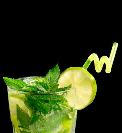 Mojito cocktail on black background Stock Photo - 20871541