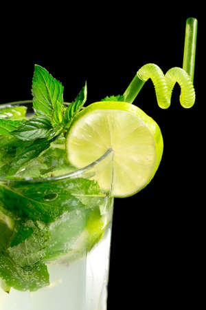 Mojito cocktail on black background Stock Photo - 20871544