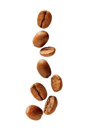 coffee grains: Flying coffee beans