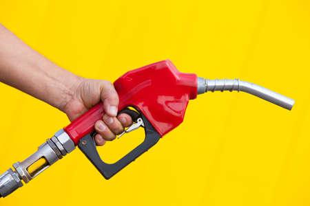 bomba de gasolina: De bombeo de gas  Foto de archivo