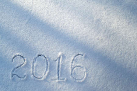 2016 on the snow for the new year Stock Photo