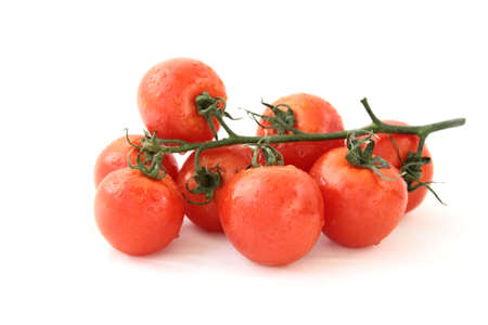 Tomatoes on white background photo