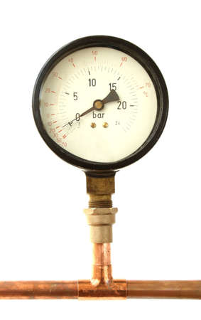 metering: manometer isolated on white background