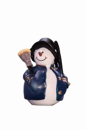 Christmas snowman on a white background photo