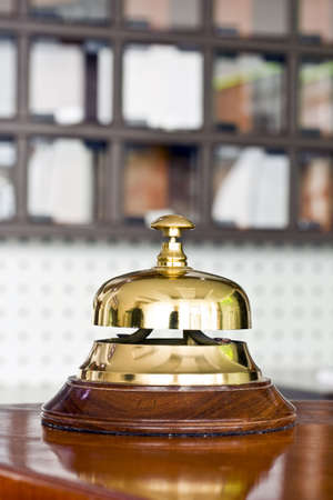 A hotel bell on a table photo