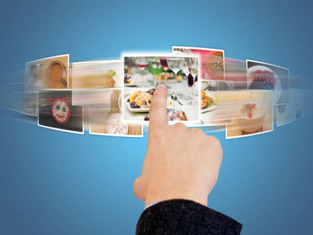 hand selecting images streaming from the deep Stock Photo - 7697960
