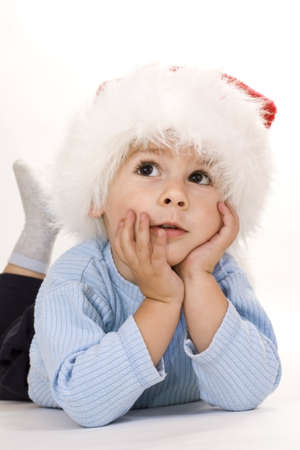 baby christmas: baby christmas, isolated on white (studio shot)