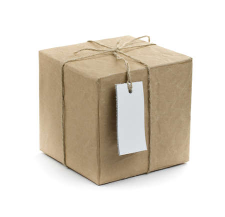 background box: gift box over white background