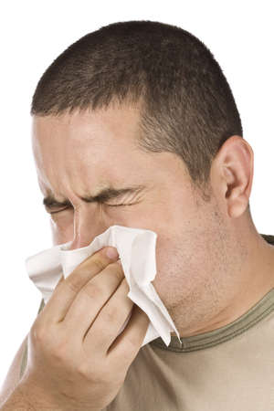 photo of man blowing his nose Stock Photo - 8306714