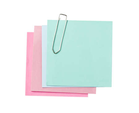 Colorful paper notes with clip Stock Photo - 8597167