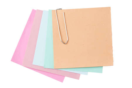 Colorful paper notes with clip  Stock Photo - 8592284