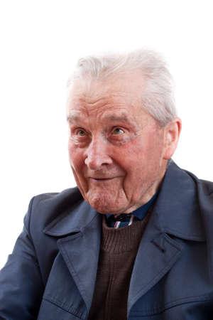 Face portrait of a smiling senior man  photo
