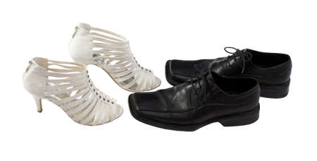 Elegant male and woman shoes for party  photo