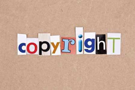 sorted: Copyright, letters sorted on paper background