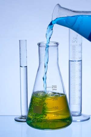 matrass: chemical laboratory glassware equipment with color liquid