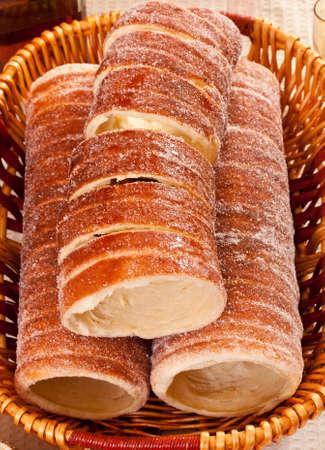 named: Traditional transylvanian cakes named kurtos kalacs Stock Photo